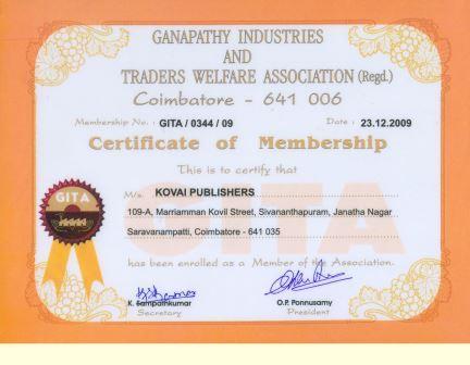GITA Certificate