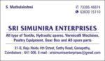 SRI SIMUNIRA ENTERPRISES